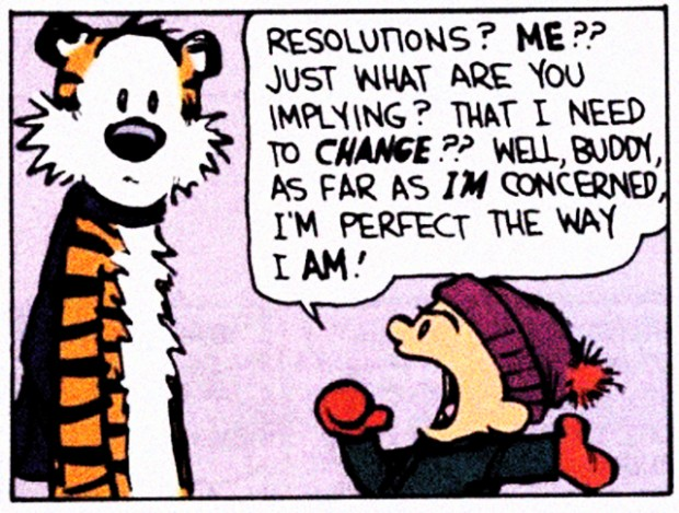 New Years Resolution, Calvin Hobbes