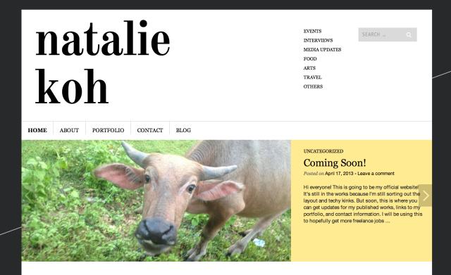 Natalie Koh Website