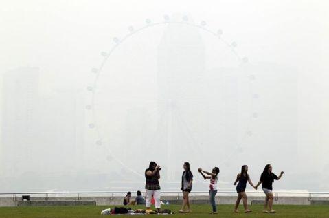 SG Haze Singapore Flyer