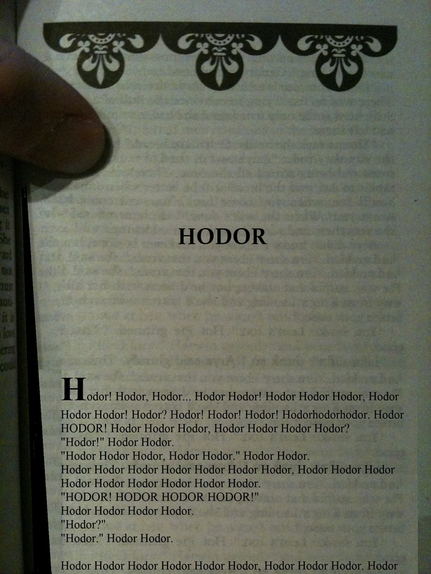 hodor chapter game of thrones