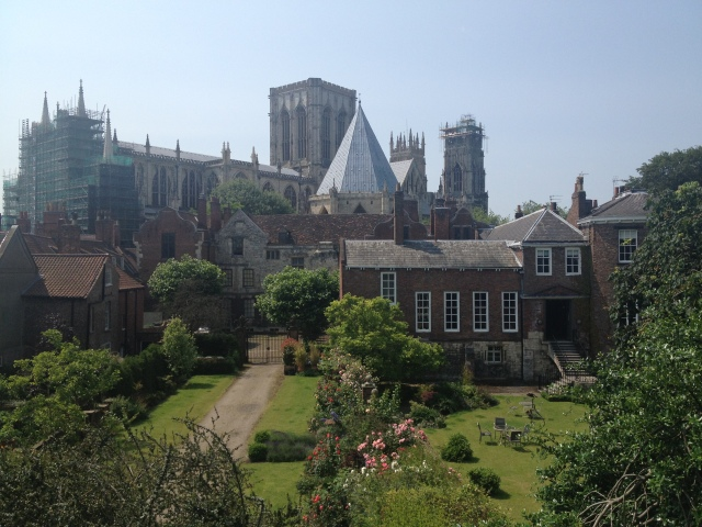 Castle under construction from the Medieval City Walls in York