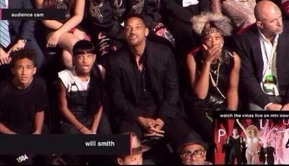 will smith family reaction