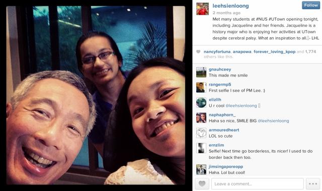 LHL Selfie NUS Instagram