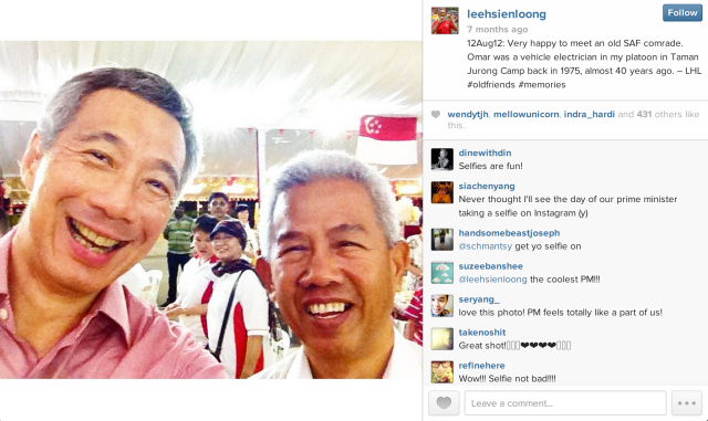 LHL Selfie SAF Instagram