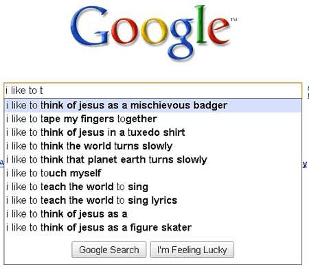 weird google searches jesus mischievous badger