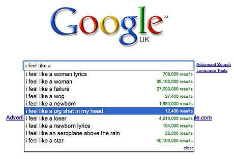 weird google searches pig shat in head